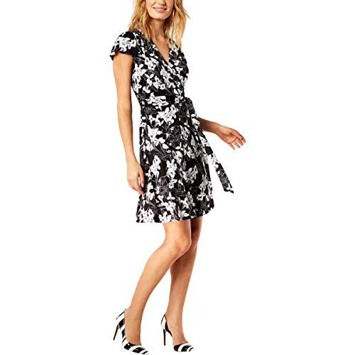 INC Womens Petites Floral Party Cocktail Dress B/W PXS