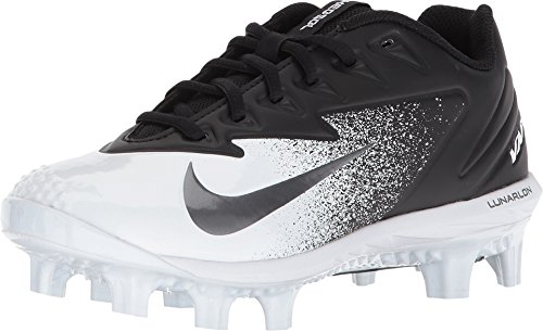(Nike Boy's Vapor Ultrafly Pro MCS Baseball Cleat Black/Metallic Silver/White Size 3 M US)