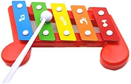 ハンドノックの木琴 子供のためのボールハンマー教育セットでベンチパウンディング学習木琴木琴のピアノ 子供用玩具ピアノ (Color : Multi-colored, Size : 18.7x11.7cm)