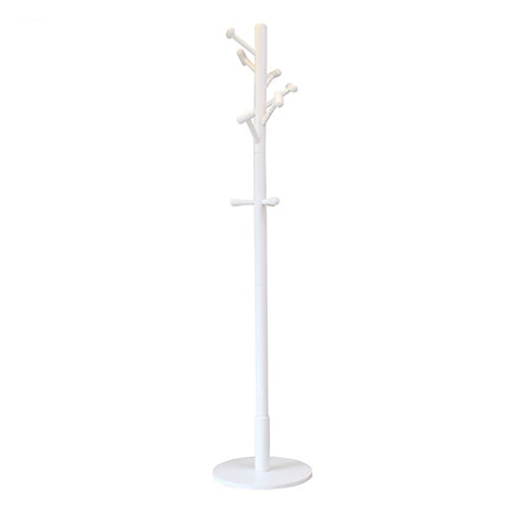White Wood Clothes Tree Simple Hatstand Coatrack Hat Rack 180cm ( color   White )