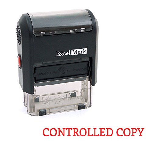 CONTROLLED COPY Self Inking Rubber Stamp - Red Ink (ExcelMark A1539)