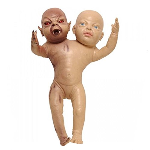 Satan Costume Baby (Foam Latex Evil Demon Twin Baby Creepy Halloween)