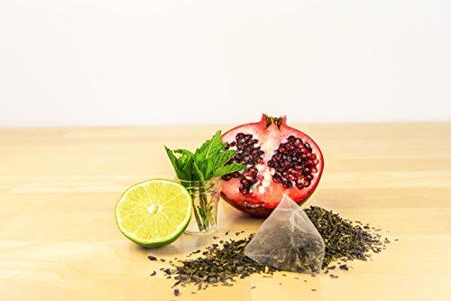Energy Tea - High Caffeine Mojito Green Tea - 140 Mg Of Caffeine Per Bag (15 Tea Sachets)