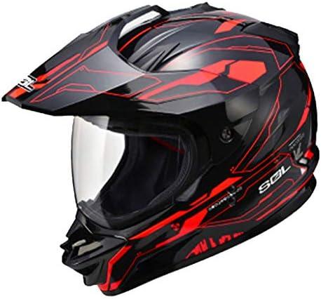 安全装置 ヘルメット - オートバイヘルメットの男性と女性のクロスカントリーヘルメットプルヘルメットレーシング機関車のフルフェイスヘルメット 個人用保護具 (色 : A, サイズ さいず : XXL61-62CM)