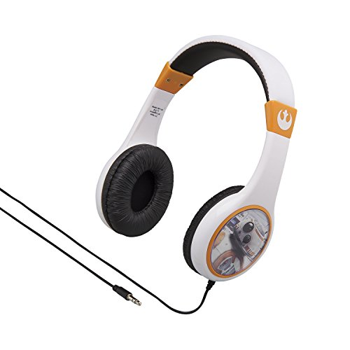 Star Wars Kid Friendly Wired Headphones Volume Limited for Safe Listening for Kids (Star Wars Headphones For Kids)