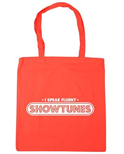 Hippowarehouse Parlo Fluente Showtunes Shopping Bag Borsa Da Spiaggia Palestra 42cm X38cm, 10 Litri - Corallo, Taglia Unica
