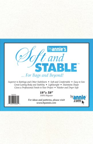 (ByAnnie's Soft and Stable Fabric, 18 by 58-Inch, White)