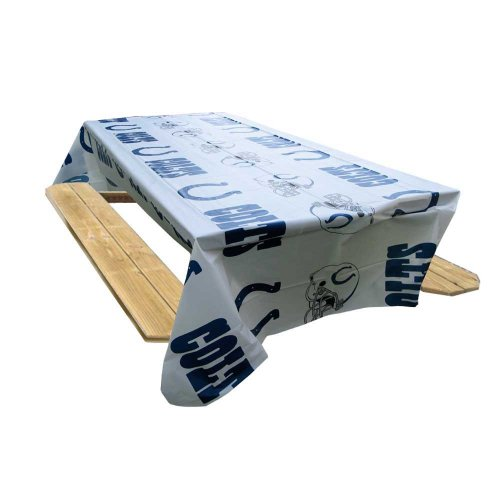 Rico Industries NFL Indianapolis Colts 8-Foot Table Cover - Indianapolis Desk Colts Team
