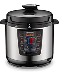 Homeleader 16-in-1 Multi-Use Programmable Pressure Cooker, Digital Electric Pressure Cooker, 6Qt Stainless Steel