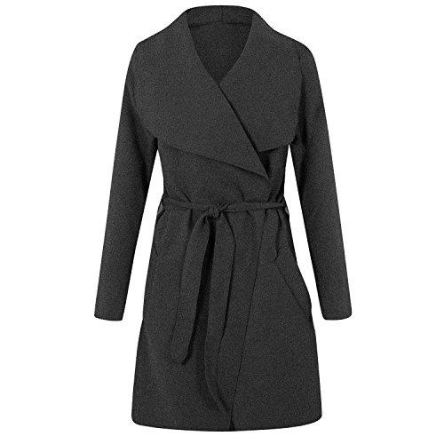 Generic Femme Inconnu pour Manteau Charcoal 1PHwq18