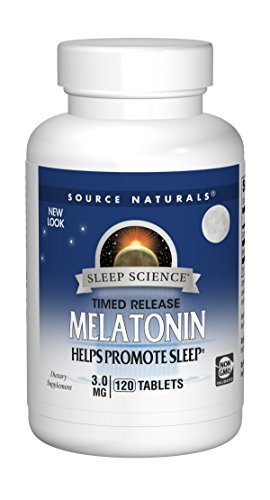 Source Naturals Melatonin 3mg - Sustained Release - 120 Tablets
