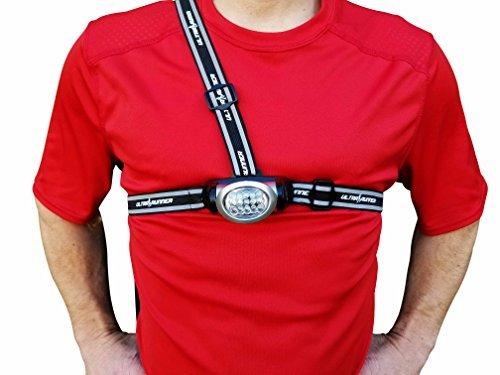 Runners Goal X53 LED Dog Walking Light - Chest Running Light Comfortable Alternative to Running Headlamps for Jogging, Walking, Hiking & More