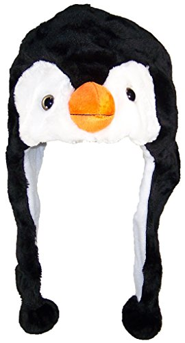 Best Winter Hats Adult/Teen Animal Character Ear Flap Beanie (One Size) - Penguin ()