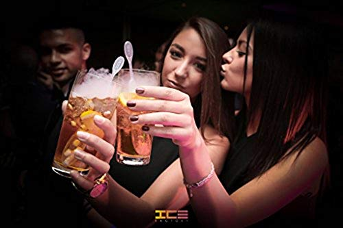 ICICLE: 10-Pack of The Drink Stirrer Swizzle Stick that Uses Dry Ice to Create Smokey Effects on Cocktails and Non-Alcoholic Drinks (Dry Ice Not -