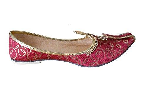 Kalra Soie Parti De Hommes Traditionnel Creations Bordeaux Chaussures Indien CrtqwrR
