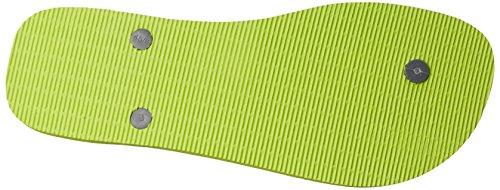 Infradito Uomo Havaianas, Sandalo Verde Limone / Grigio