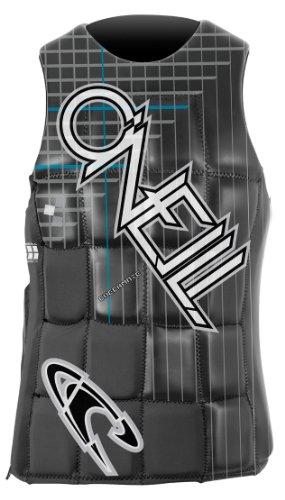 O'Neill Wake Waterski Men's Checkmate Comp Vest, Black/Graph