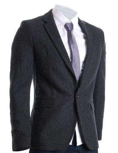 Wool Blend Blazer Jacket - 4