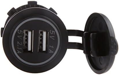 B Baosity 12-24V 3.1Aオレンジ デュアルUSBポート 車 充電器 電源アダプタ ソケット