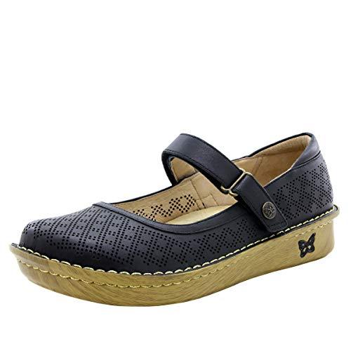 Alegria Belle Womens Mary Jane Shoe Fresh Black 7 M US