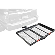 """Pro Series 1040100 Solo Black 48"""" x 32"""" Hitch Mounted Cargo Carrier"""