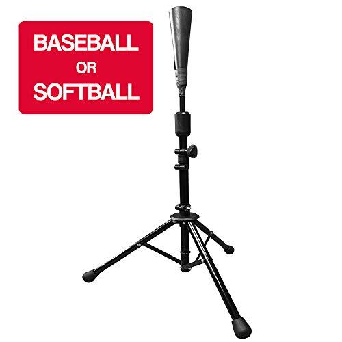 Hit Run Steal Baseball and Softball Portable Batting Tee