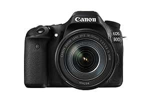 "Canon EOS 80D - Cámara réflex digital de 24.2 MP (pantalla táctil de 3"", video Full HD, enfoque automático, WiFi, objetivo Canon EF 18 - 135 mm f/3.5 - 5.6 IS (versión importada))"