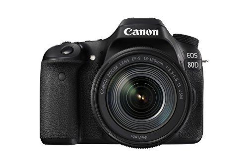 Canon EOS 80D Digitale spiegelreflexcamera, krachtig, veelzijdig, reactiesnel, 7,7 cm (3 inch), incl. EF-S 18-135 IS USM…