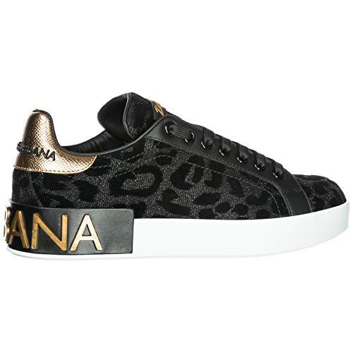Nuove Scarpe Nero Dolce Donna Originale amp;Gabbana Sneakers qIxww6TC8
