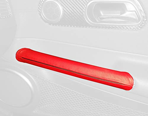- RedlineGoods Door Pull Covers Compatible with Chrysler Crossfire 2003-08. Medium Gray Leather-Black Thread