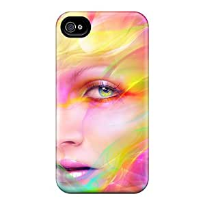New Arrival Colorful Face PsTmnNn8722drjQC Case Cover/ 4/4s Iphone Case