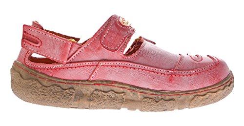TMA - Sandalias de Punta Descubierta Mujer Rojo
