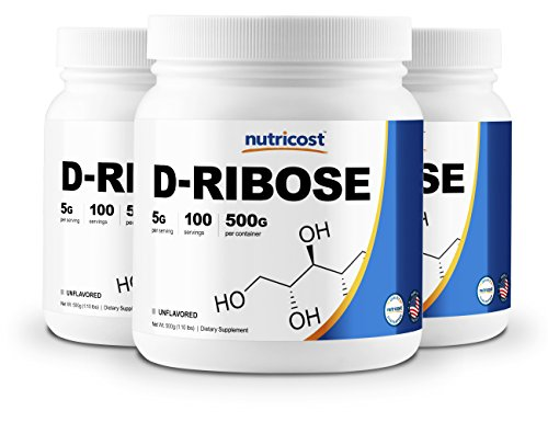 Nutricost Pure D-Ribose Powder 500G (3 Bottles) - 100 Servings Per Bottle - High Quality D-Ribose