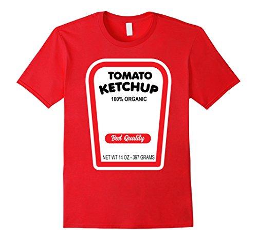 Mens Funny Organic Tomato Ketchup Halloween Costume T-Shirt XL Red - Tomato Ketchup Costume