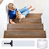 MBIGM Anti Slip Stair Treads Clear Tape, 4 Inches x 33 Feet Non Slip Safe Strips For Kids, The Elderly And Pets
