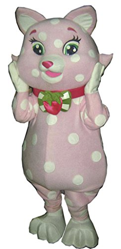 Strawberry Shortcake Cat Custard Mascot Costume Adult Costume - Custard Cat Costumes