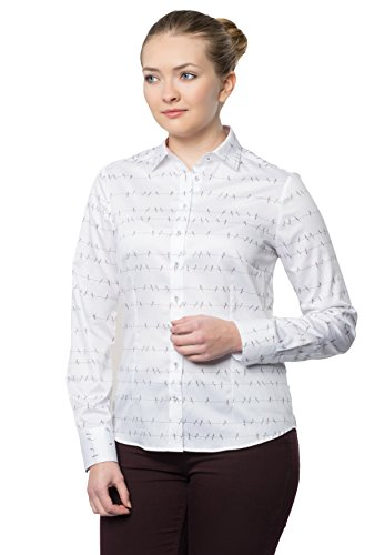 ETERNA long sleeve Blouse for tall women COMFORT FIT printed lila