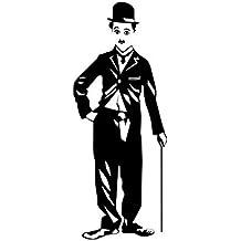 Fangeplus(TM) DIY Removable Charlie Chaplin Portrait Art Mural Vinyl Waterproof Wall Stickers Kids Room Decor Nursery Decal Sticker Wallpaper 23.6''x35.4''