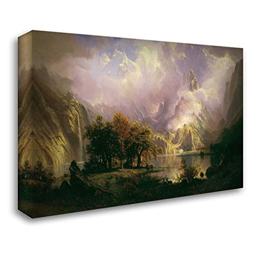 Rocky Mountain Landscape 24x17 Gallery Wrapped Stretched Canvas Art by Bierstadt, Albert