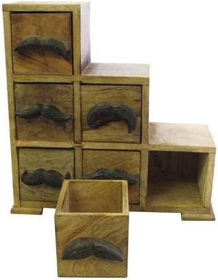 Diseño de bigote escalera armario de madera de Mango cajones no incrustar diseño de Mini pantalla de regalo: Amazon.es: Hogar