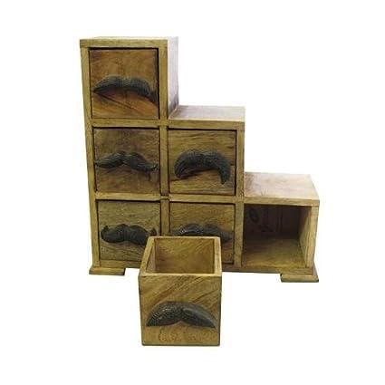 Diseño de bigote escalera armario de madera de Mango cajones ...