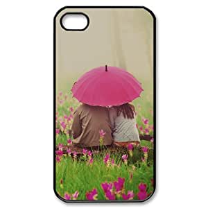 Lovers Under the Pink Umbrella IPhone 4/4s Cases, [Black]