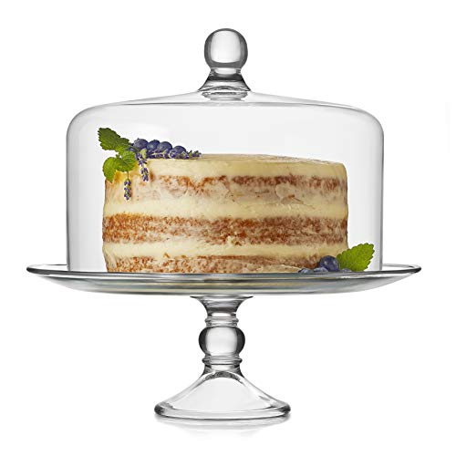 Libbey Selene Glass Cake Stand with Dome