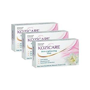 Kozicare Skin Lightening Soap with Kojic Acid, Glutathione & Arbutin – 75g (Pack of 3)