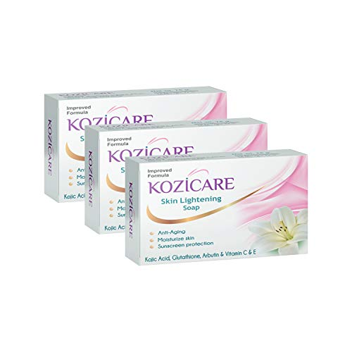 Kozicare Kojic Acid, Vitamin E, Arbutin Skin Lightening Soap, 75g (Pack of 3)