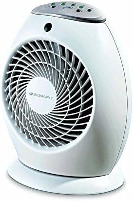 Bionaire calentador de ventilador con un solo toque, enchufe del ...
