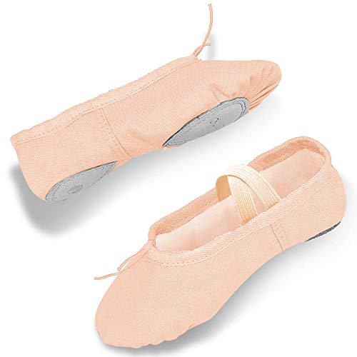 DIPUG Ballet Shoes for Toddler Girls Ballet Slippers for Girl Canvas Dance Shoe