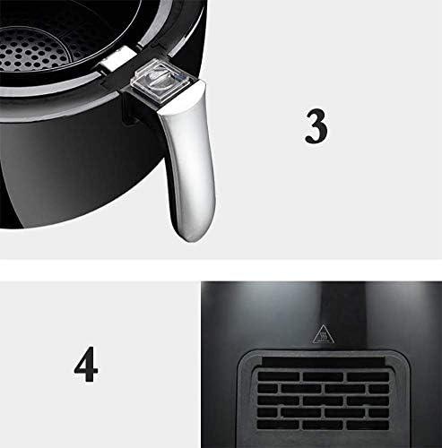 Heteluchtfriteuse Elektrische friteuse Automatische friteuse zonder olie Antiaanbaklaag Airfryer Intelligence Touch-frituuroven 38 l 1300 W.