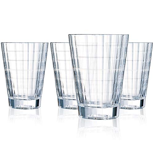 Cristal D'Arques Iroko 12 Ounce Hiball Glass, Set of 4 ()