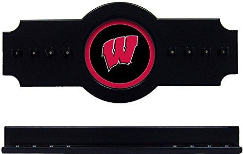 - NCAA Wisconsin Badgers UWICRR100-B 2 pc Hanging Wall Pool Cue Stick Holder Rack - Black